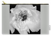 Tree Peony Close Up Black And White Carry-all Pouch