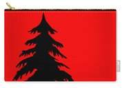 Tree Silhouette On A Red Background 2 Carry-all Pouch
