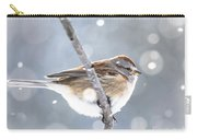 Tree Sparrow In The Snow Carry-all Pouch