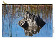 Tree Stump And Reeds Carry-all Pouch
