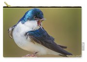 Tree Swallow Squawking Carry-all Pouch