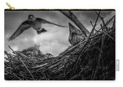 Tree Swallows In Nest Carry-all Pouch