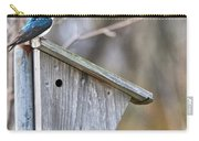 Tree Swallows On Birdhouse Carry-all Pouch