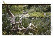 Tree Trunk In The Meadow Carry-all Pouch