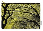 Trees Abstarct Yellow Carry-all Pouch