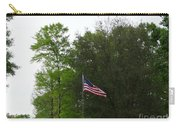 Trees And Flag Carry-all Pouch