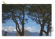 Trees And Snow-capped Mountain Carry-all Pouch