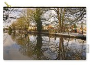 Trees Beside The Wintry Rolleston Pond Carry-all Pouch
