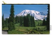 Trees In A Forest, Mt Rainier National Carry-all Pouch