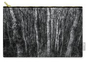 Trees In Black And White Carry-all Pouch