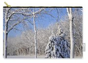 Trees In Snow  Wisconsin Carry-all Pouch by Anonymous