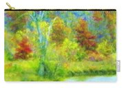 Trees In Spring On A Lake Carry-all Pouch