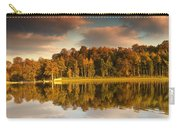 Trees Lining The Waters Edge Reflected Carry-all Pouch