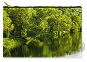Trees Reflecting In River Carry-all Pouch by Elena Elisseeva