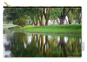 Trees Reflection On The Lake Carry-all Pouch by Heiko Koehrer-Wagner