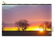 Trees Watching The Sunrise Panorama View Carry-all Pouch
