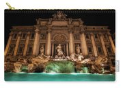 Trevi Fountain Illuminated At Nighttime Carry-all Pouch