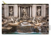 Trevi Fountain Carry-all Pouch by John Wadleigh