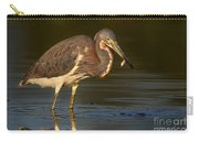 Tricolor Heron With Small Fish Carry-all Pouch