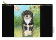 Tri Colored Dachsund Mix Dog Canine Pets Animal Art Carry-all Pouch