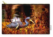 Tri Colored Heron - Reflection Carry-all Pouch