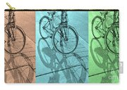 Tri-coloured Bicycle Print Carry-all Pouch