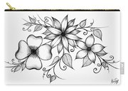 Tri-floral Sketch Carry-all Pouch