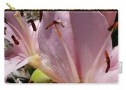 Tri Pink Lily Carry-all Pouch