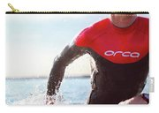 Triathlete And Two Time Iron Man Winner Carry-all Pouch