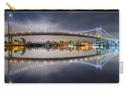 Triboro Bridge Panorama At Night Carry-all Pouch