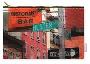 Tribute To Little Italy - Hester And Mulberry Sts - N Y Carry-all Pouch