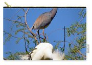 Tricolored Heron And Snowy Egret Carry-all Pouch