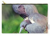 Tricolored Heron Male And Female At Nest Carry-all Pouch