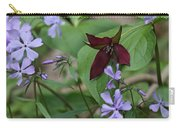 Trillium And Phlox Carry-all Pouch
