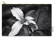 Trillium - Black And White Carry-all Pouch