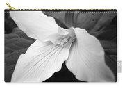 Trillium Flower In Black And White Carry-all Pouch