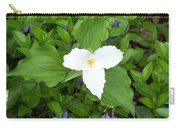 Trillium - White Beauty Carry-all Pouch