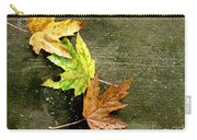 Trio Of Leaves Carry-all Pouch