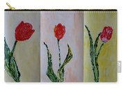 Trio Of  Red Tulips Carry-all Pouch