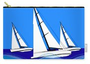 Trio Of Sailboats Carry-all Pouch