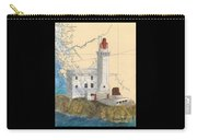 Triple Islands Lighthouse Bc Canada Chart Art Carry-all Pouch