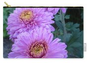 Triplets Of Purple Mums Carry-all Pouch