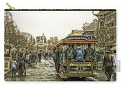 Trolley Car Main Street Disneyland Antique Carry-all Pouch