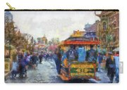 Trolley Car Main Street Disneyland Photo Art 02 Carry-all Pouch