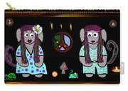 Trolls In Hippie Wood Carry-all Pouch