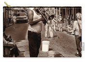 Trombone Man On Royal St. New Orleans Carry-all Pouch