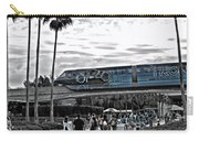 Tron Monorail Wdw In Sc Carry-all Pouch by Thomas Woolworth