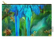 Tropic Spirits - Gold And Blue Macaws Carry-all Pouch