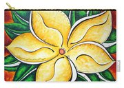 Tropical Abstract Pop Art Original Plumeria Flower Painting Pop Art Tropical Passion By Madart Carry-all Pouch