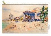 Tropical  Beach Hut Carry-all Pouch